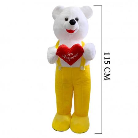 Kalpli Tulumlu Ayı 115 cm Sarı