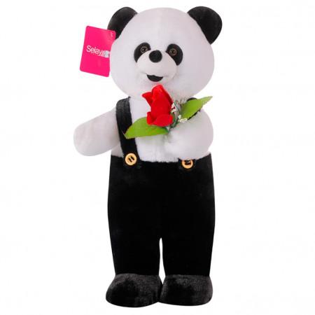 Çiçekli Ayakta Panda 80 cm