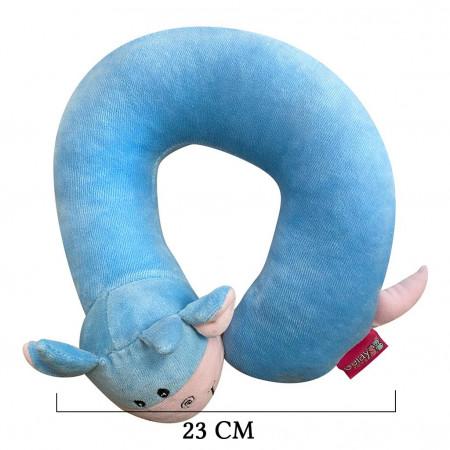 Selay Toys İnek Figürlü Boyun Yastığı Mavi 23 Cm