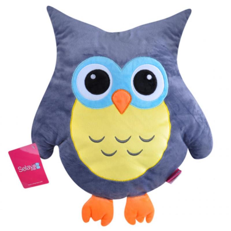 Baykuş Figürlü Yastık 35 cm