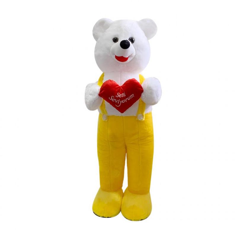 Kalpli Tulumlu Ayı 75 cm Sarı