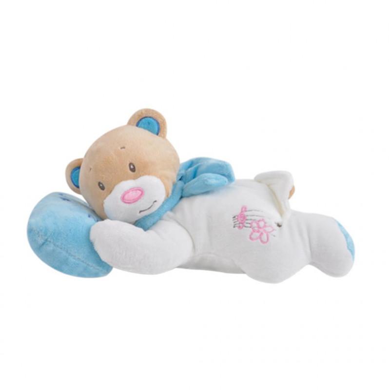 Yatan Uyku Ayıcığı 25 cm Mavi