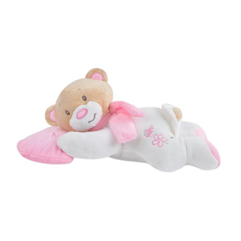 Yatan Uyku Ayıcığı 25 cm Pembe