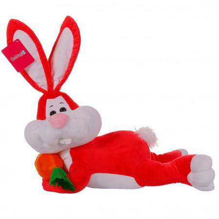 Yatan Tavşan 55 cm Kırmızı