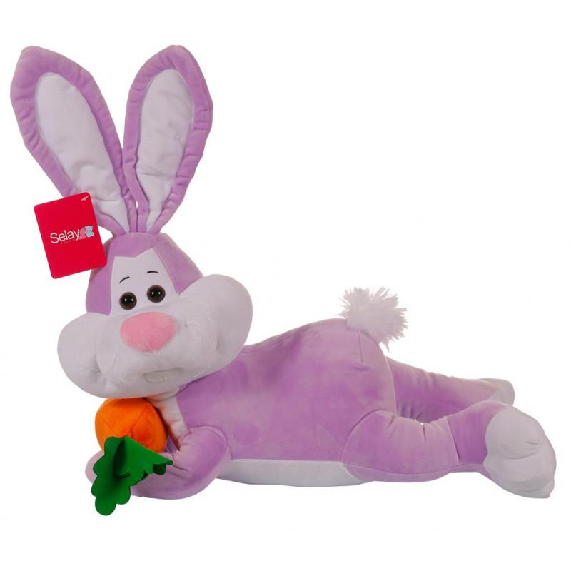 Yatan Tavşan 55 cm Lila