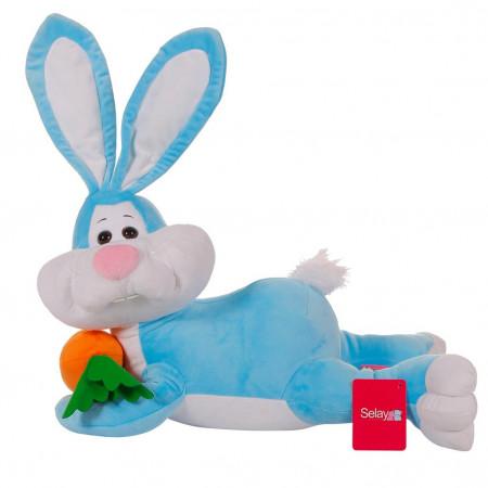 Yatan Tavşan 55 cm Mavi