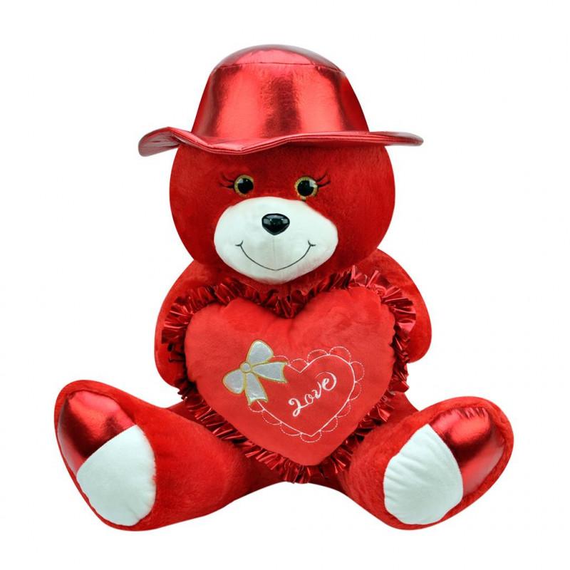Şapkalı Ayı 40 cm Kırmızı