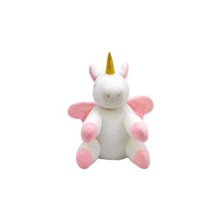 Unicorn Figürlü Yastık 25 cm Pembe