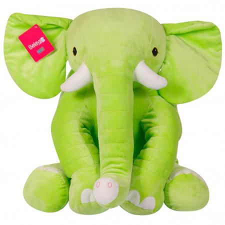 Oturan Dişli Fil 40 cm Yeşil